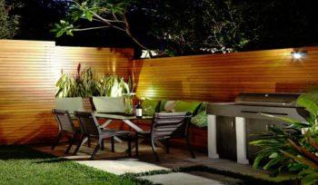 Backyard entertainment area