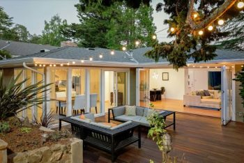 Perfect backyard entertainment area