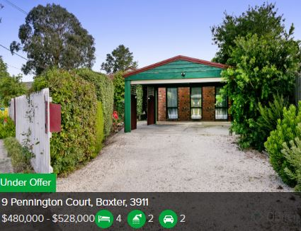 Property valuation Baxter VIC 3199