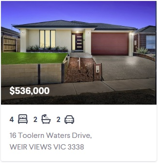 Real estate appraisal Weir Views VIC 3338