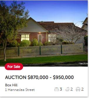 Real estate appraisal Box Hill VIC 3128