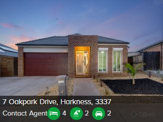 Real estate appraisal Harkness VIC 3337