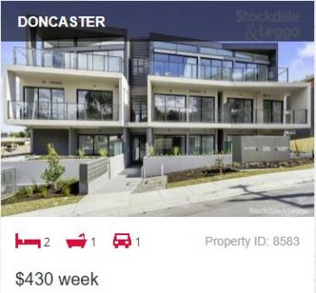 Rental appraisal Doncaster VIC 3108