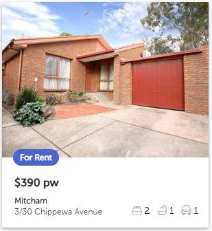 Rental appraisal Mitcham VIC 3132