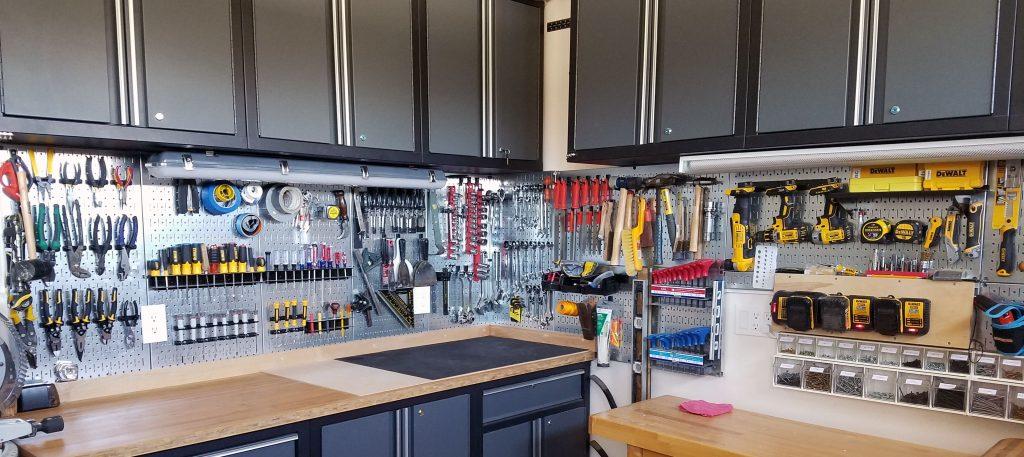 Garage storage space storage solutions