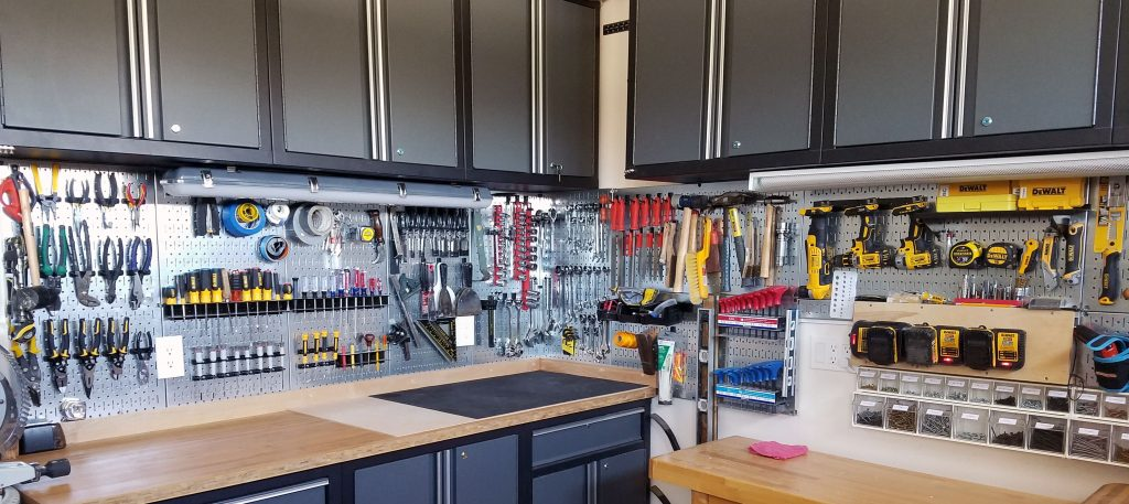 Garage storage space storage solutions