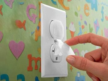 Babyproofing electrical outlet caps
