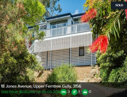 Property valuation Upper Ferntree Gully VIC 3156
