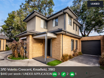 Rental appraisal Knoxfield VIC 3180