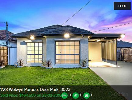 Property valuation Deer Park VIC 3023