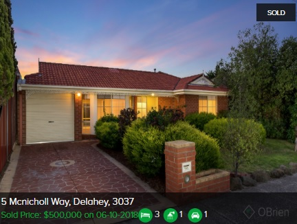 Property valuation Delahey VIC 3037