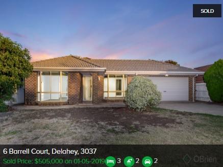 Real estate appraisal Delahey VIC 3037