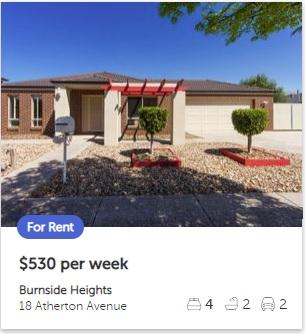 Rental appraisal Burnside Heights VIC 3023
