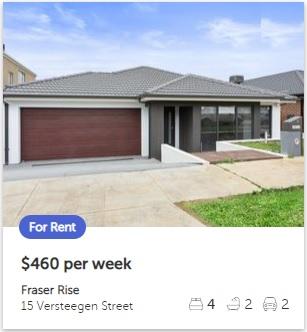 Rental appraisal Fraser Rise VIC 3336