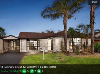 Property valuation meadow heights VIC 3048