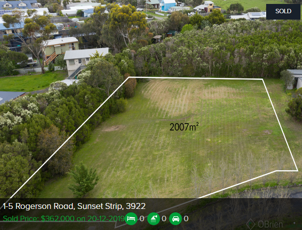 Real estate appraisal Sunset Strip VIC 3922