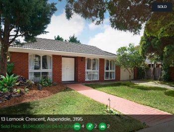 Property valuation Aspendale VIC 3195