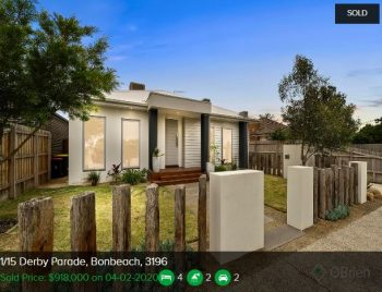 Property valuation Bonbeach VIC 3196