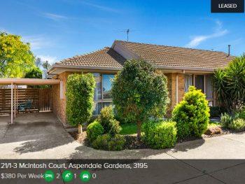 Rental appraisal Aspendale Gardens VIC 3195