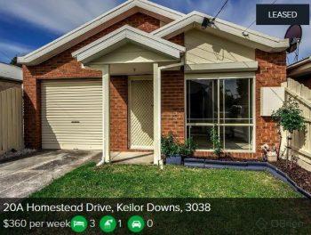 Rental appraisal Keilor Downs VIC 3038