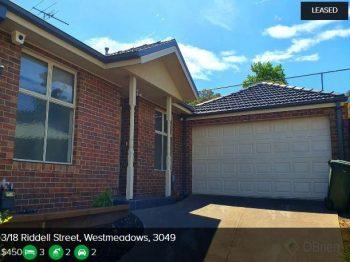 Rental appraisal Westmeadows VIC 3049