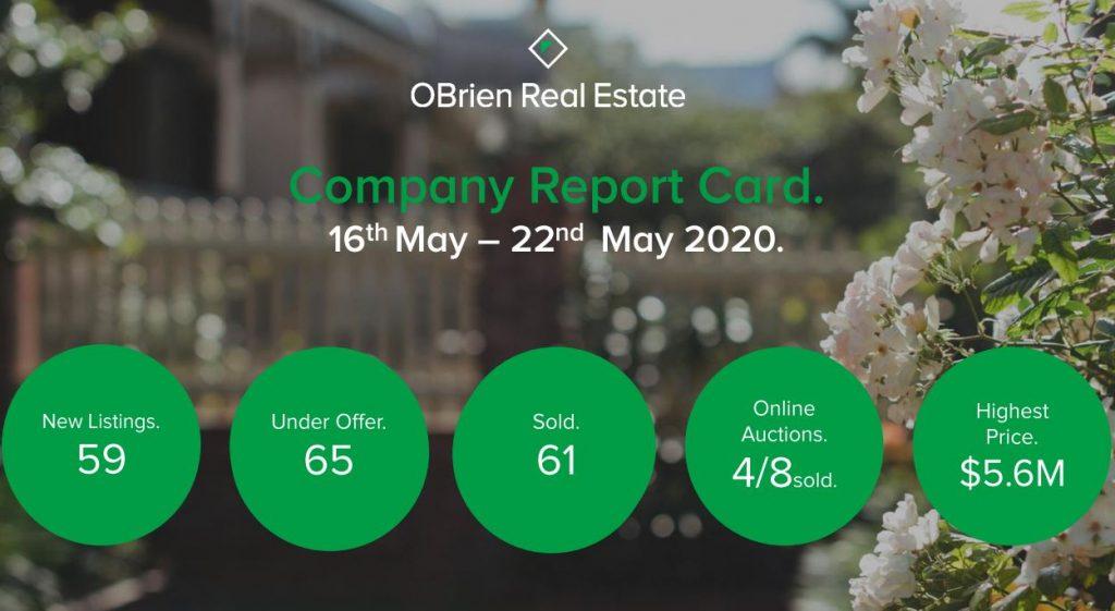 Dean O'Brien weekly property news may 22 2020