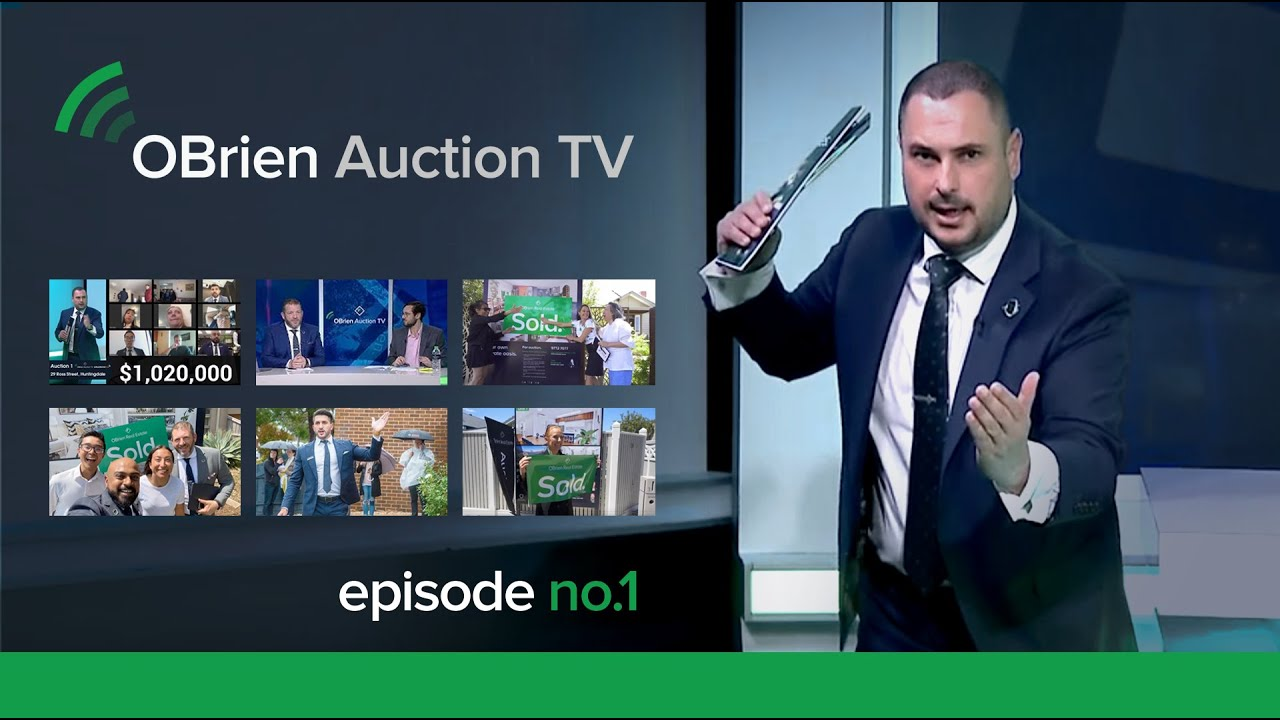 OBrien Real Estate creates a first in online auctions.