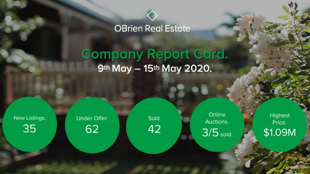 OBrien Real Estate weekly property news may 15 2020