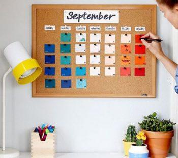 DIY calendar chip board
