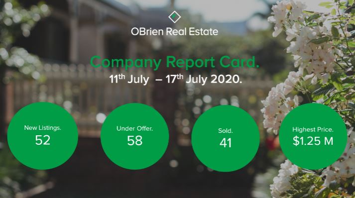 OBrien Real Estate property news July 24 2020