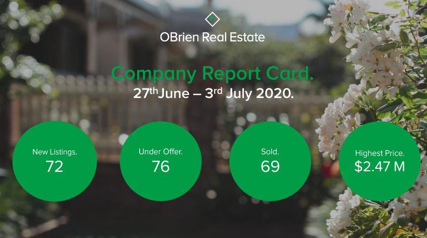 OBrien Real Estate Property news July 8 2020