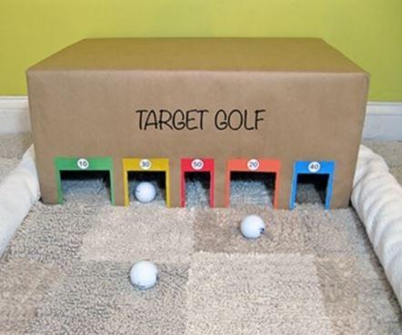 Boys target golf