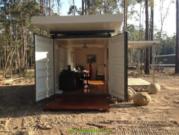 Shipping container home office designs