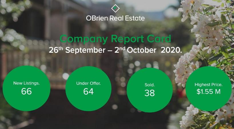 OBrien Real Estate property news October 2020