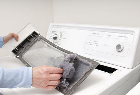 Lint buildup in dryer