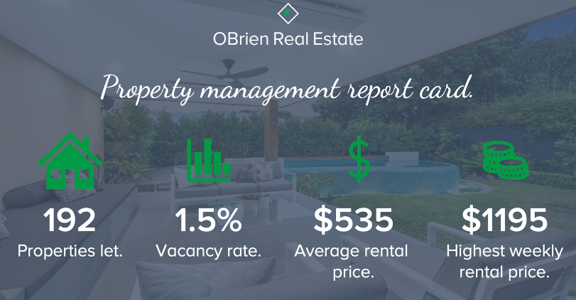 OBrien Real Estate property manager report card