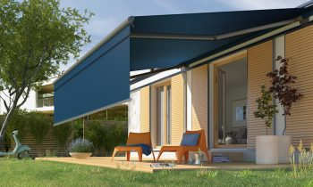 Outdoor retractable awnings