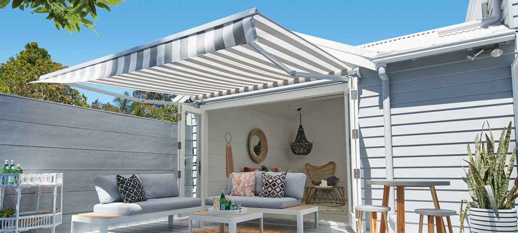 Outdoor room awnings