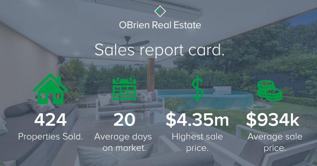 OBrien Real Estate Property News 12th edition sales report card