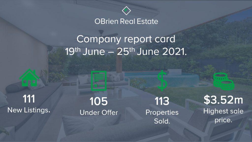OBrien Real Estate report card June 2021